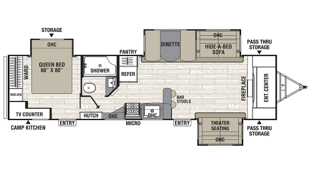 2020 Freedom Express Liberty Edition 321FEDS Floor Plan