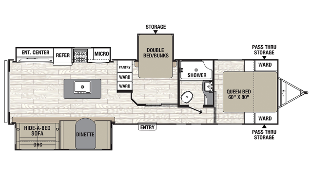 2020 Freedom Express Liberty Edition 323BHDS Floor Plan