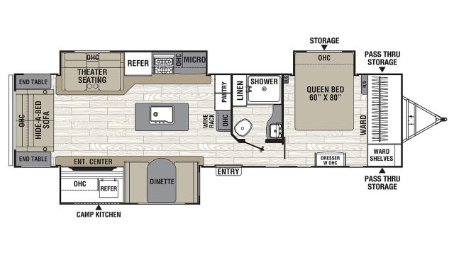 2020 Freedom Express Liberty Edition 324RLDS Floor Plan
