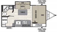 2020 Freedom Express Pilot 19FBS Floor Plan