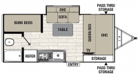 2020 Freedom Express Pilot 20BHS Floor Plan
