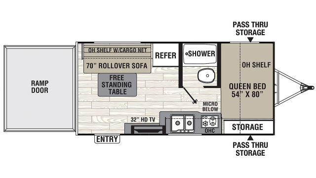2020 Freedom Express Select 17BLSE Floor Plan