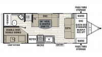 2020 Freedom Express Select 23.9SE Floor Plan
