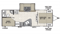 2020 Freedom Express Select 25SE Floor Plan