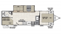 2020 Freedom Express Select 28.7SE Floor Plan