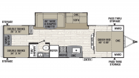 2020 Freedom Express Select 29SE Floor Plan