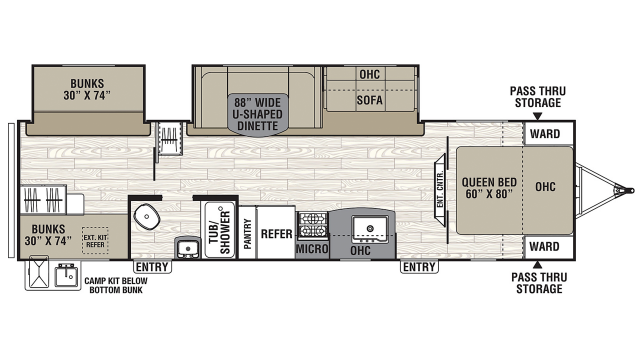 2020 Freedom Express Select 31SE Floor Plan