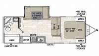 2020 Freedom Express Ultra Lite 248RBS Floor Plan