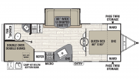 2020 Freedom Express Ultra Lite 257BHS Floor Plan