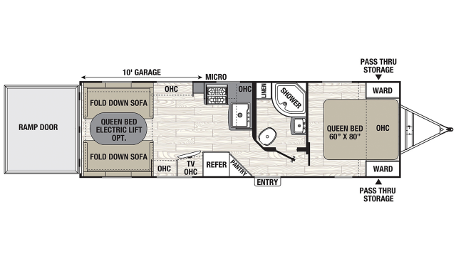 2020 Freedom Express Ultra Lite 271BL Floor Plan