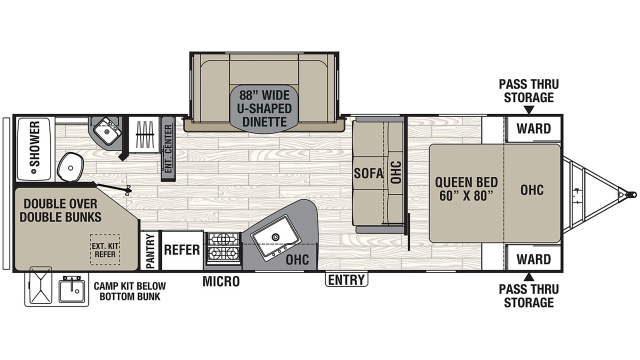 2020 Freedom Express Ultra Lite 275BHS Floor Plan