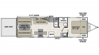 2020 Freedom Express Ultra Lite 283BL Floor Plan
