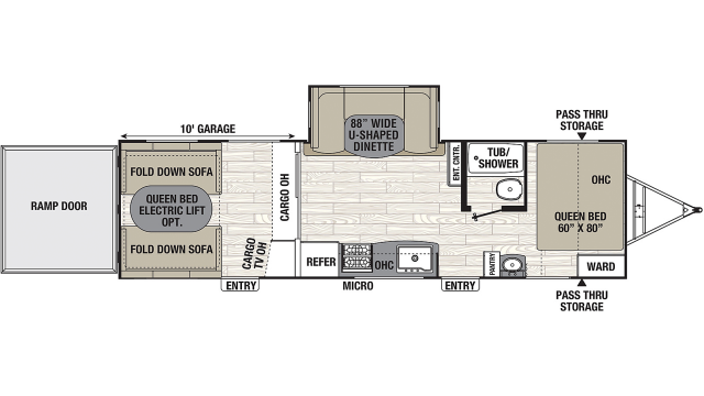 2020 Freedom Express Ultra Lite 301BLDS Floor Plan