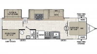 2020 Freedom Express Ultra Lite 310BHDS Floor Plan