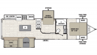 2020 Freedom Express Ultra Lite 323BHDS Floor Plan