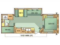 2003 Jay Flight 31BHDS Floor Plan