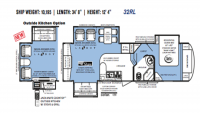 2012 Wildcat STERLING 32RL Floor Plan