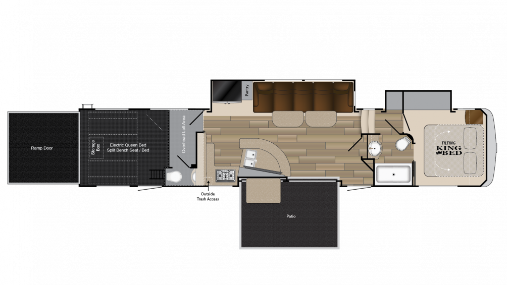 2018 Cyclone 4270 Floor Plan