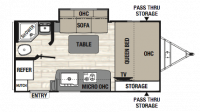2019 Freedom Express Pilot 19FBS Floor Plan