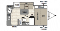 2018 Freedom Express Pilot 19RKS Floor Plan