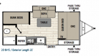 2019 Freedom Express Pilot 20BHS Floor Plan