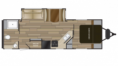 2018 Shadow Cruiser 260RBS Floor Plan