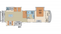 2019 Columbus Compass Series 297RKC Floor Plan