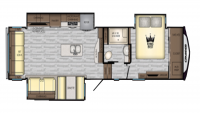 2019 Cruiser 3391RL Floor Plan