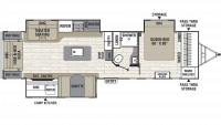 2019 Freedom Express Liberty Edition 324RLDS Floor Plan