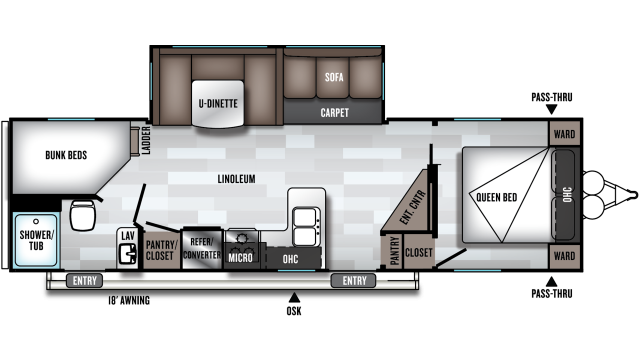 2019 Salem 26DBUD Floor Plan