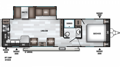 2019 Salem 27RKS Floor Plan Img