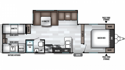 2019 Salem 30KQBSS Floor Plan Img