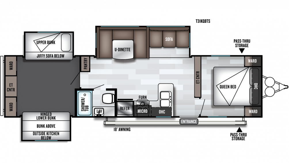 2019 Salem 31KQBTS Floor Plan Img