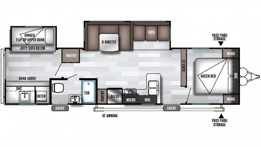 2019 Salem 32BHDS Floor Plan Img