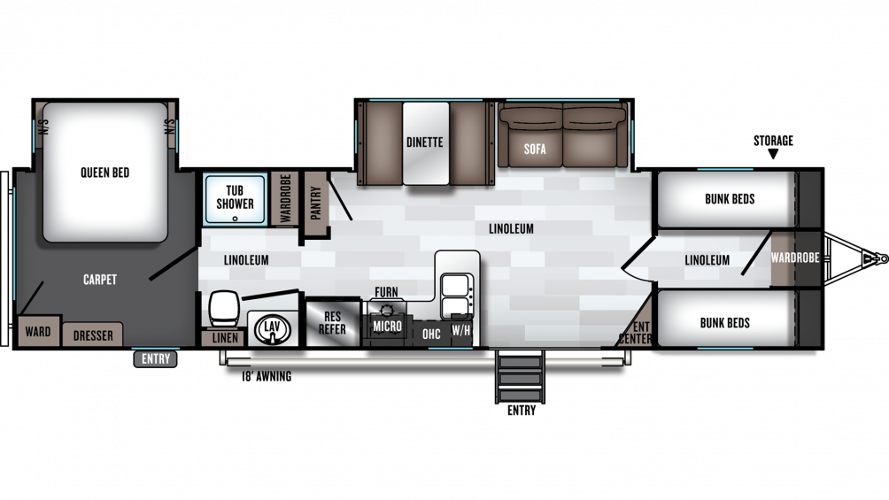 2019 Salem 36BHBS Floor Plan Img