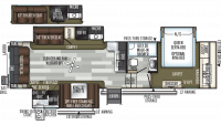2020 Flagstaff Classic Super Lite 8528CBS Floor Plan