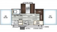 2020 Flagstaff High Wall HW27SC Floor Plan