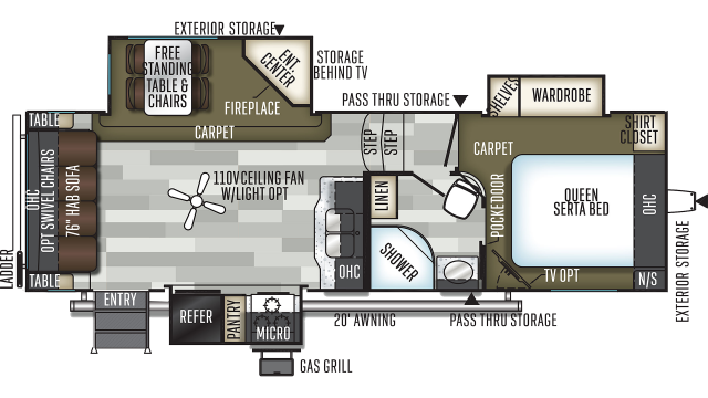 2020 Flagstaff Super Lite 526KSWS Floor Plan