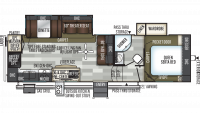 2020 Flagstaff Super Lite 528RKS Floor Plan