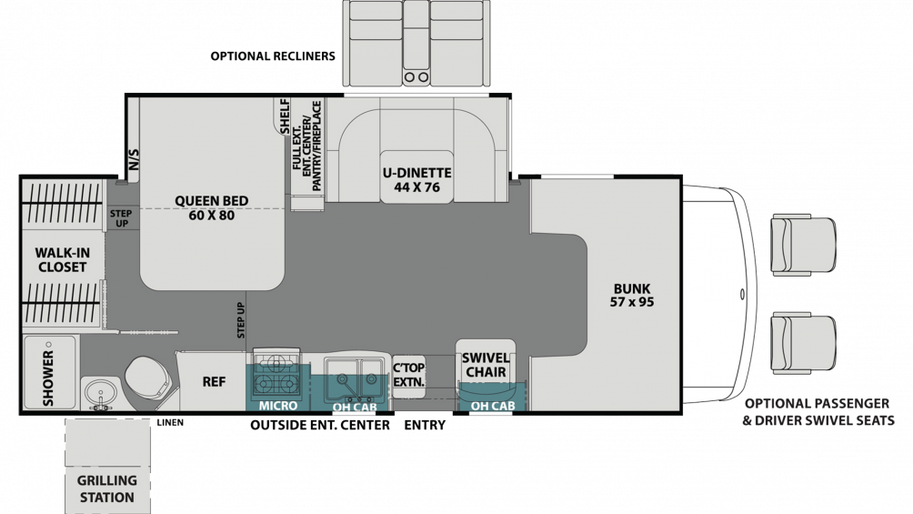 2020 Leprechaun 240FS CHEVY Floor Plan Img