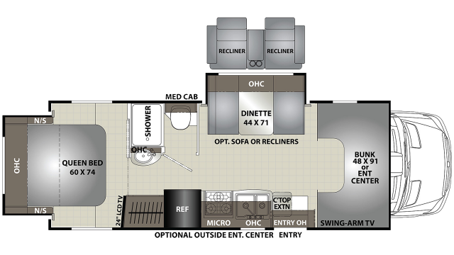 2020 Prism 2250DS Floor Plan