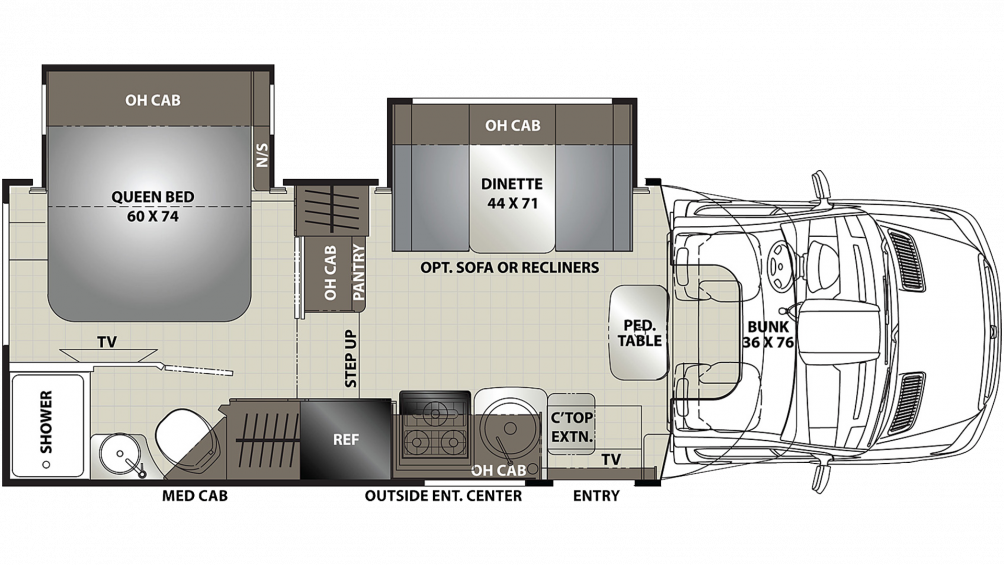 2020 Prism Elite 24EE Floor Plan Img