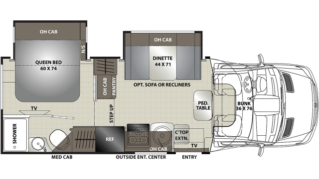 2020 Prism Elite 24EE Floor Plan