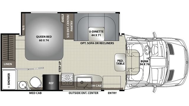 2020 Prism ELITE 24EF Floor Plan