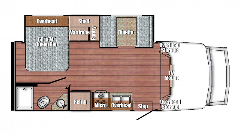 BT Cruiser 5245 Floor Plan - 2018