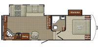 2015 Canyon Trail 26FRKW Floor Plan