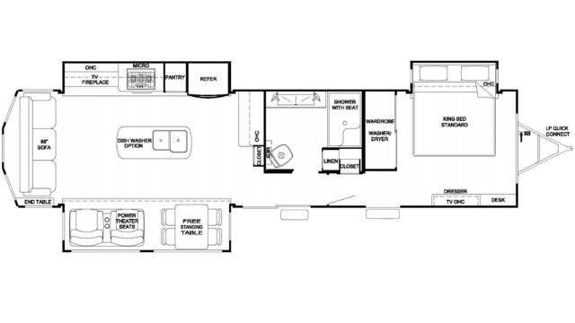 2020 Cedar Creek Cottage 40CR20 Floor Plan