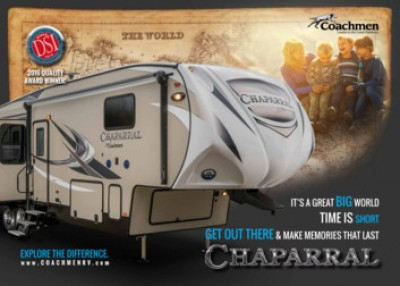 2017 Coachmen Chaparral RV Brand Brochure Cover