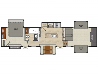 2019 Brookstone 369FL Floor Plan