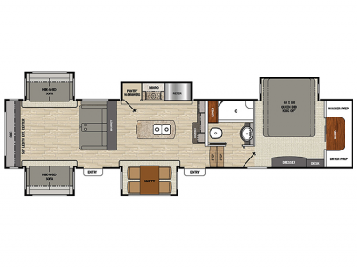 2019 Brookstone 378RE Floor Plan Img